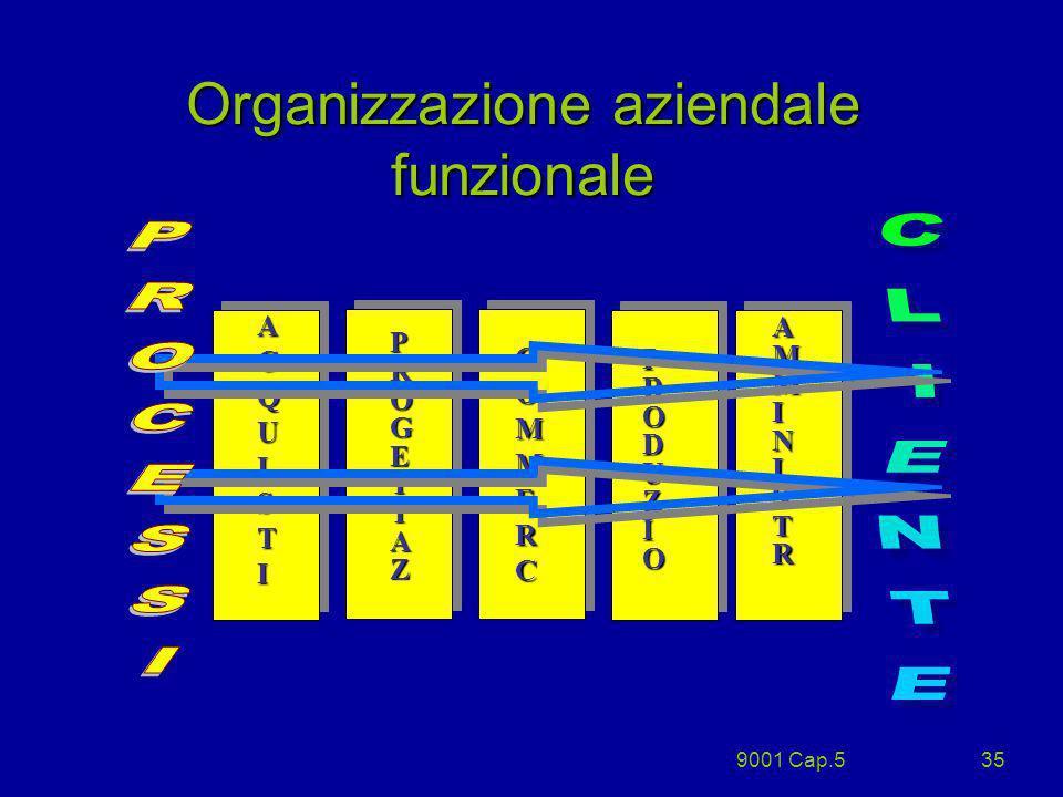 9001 Cap.535 Organizzazione aziendale funzionale ACQUISTIACQUISTIACQUISTIACQUISTI AMMINISTRAMMINISTRAMMINISTRAMMINISTR PRODUZIOPRODUZIOPRODUZIOPRODUZI