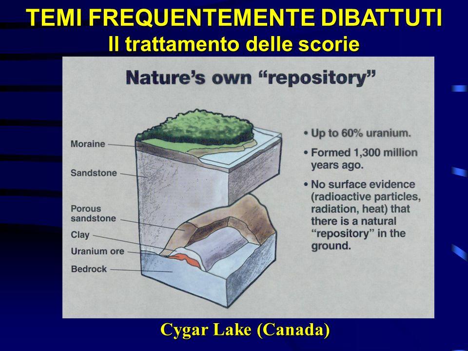 TEMI FREQUENTEMENTE DIBATTUTI Il trattamento delle scorie Cygar Lake (Canada)