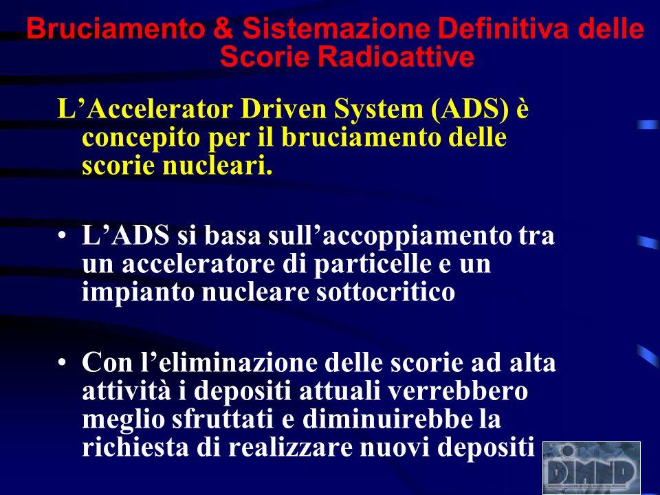 LAccelerator Driven System (ADS) è concepito per il bruciamento delle scorie nucleari. LADS si basa sullaccoppiamento tra un acceleratore di particell