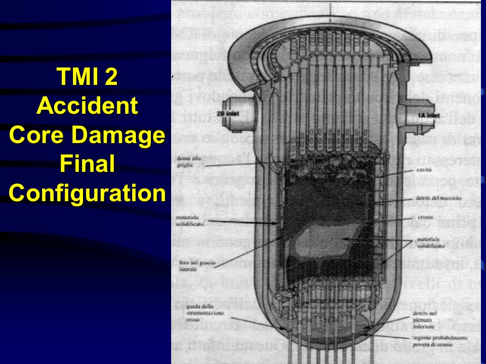 TMI 2 Accident Core Damage Final Configuration