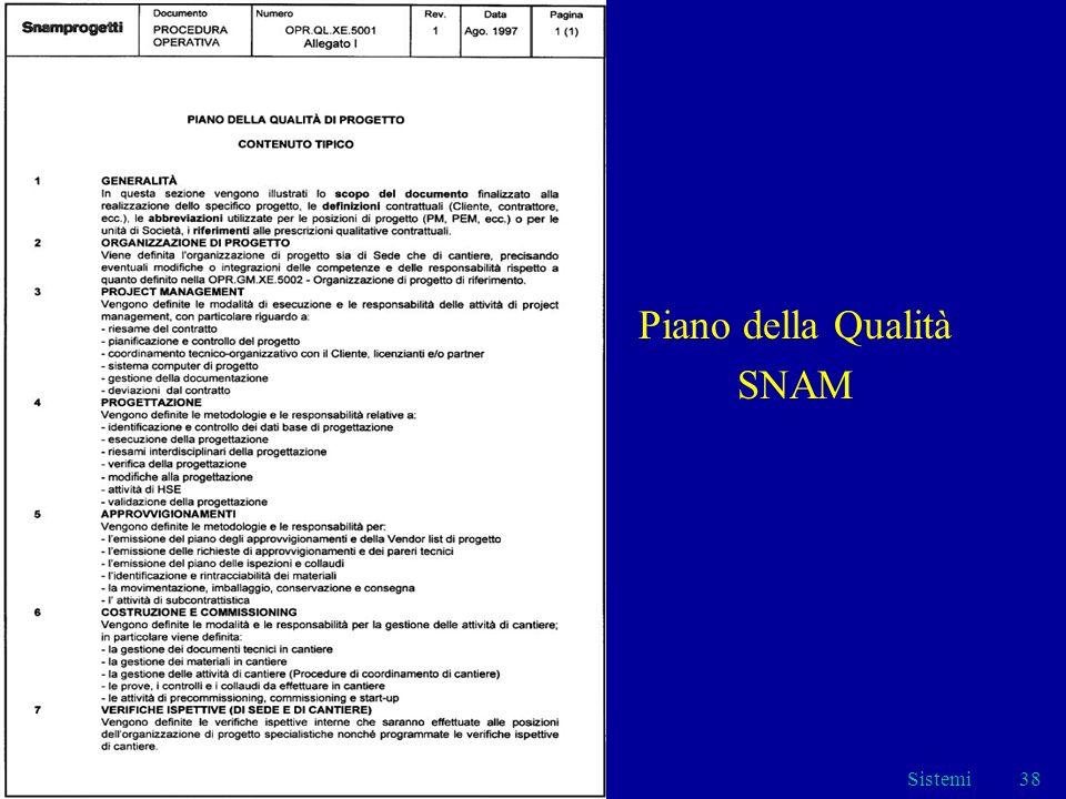 Sistemi38 Piano della Qualità SNAM