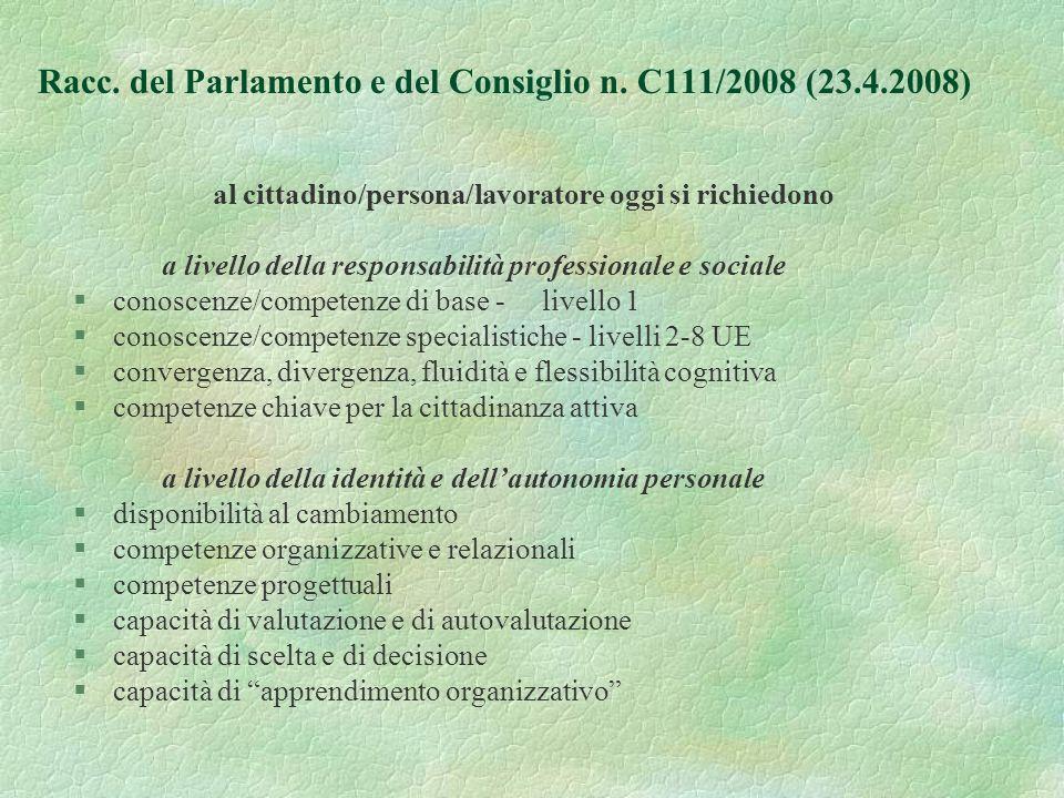 Racc. del Parlamento e del Consiglio n.