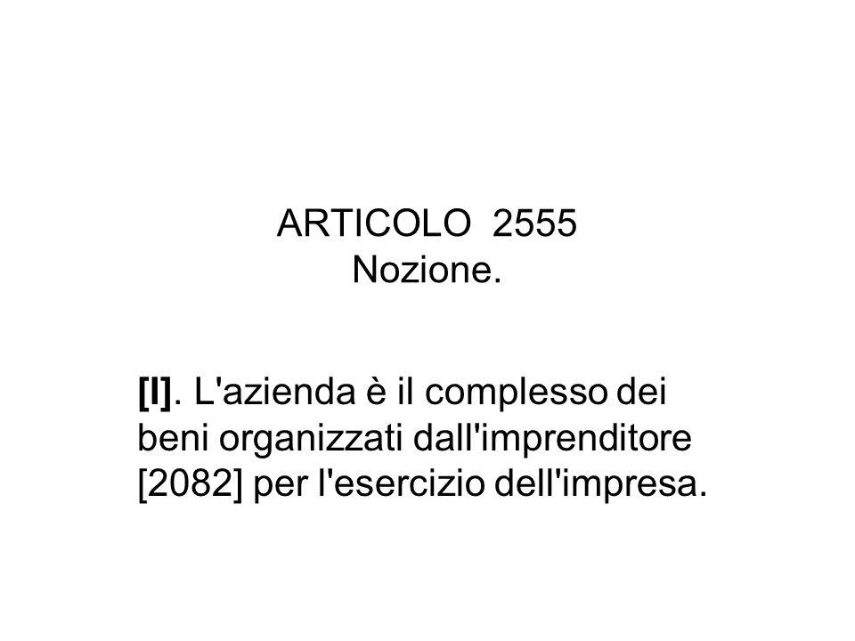 ARTICOLO 2556 Imprese soggette a registrazione.[I].