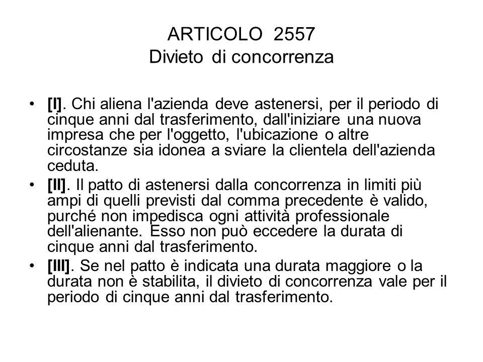 ARTICOLO 2558 Successione nei contratti.[I].