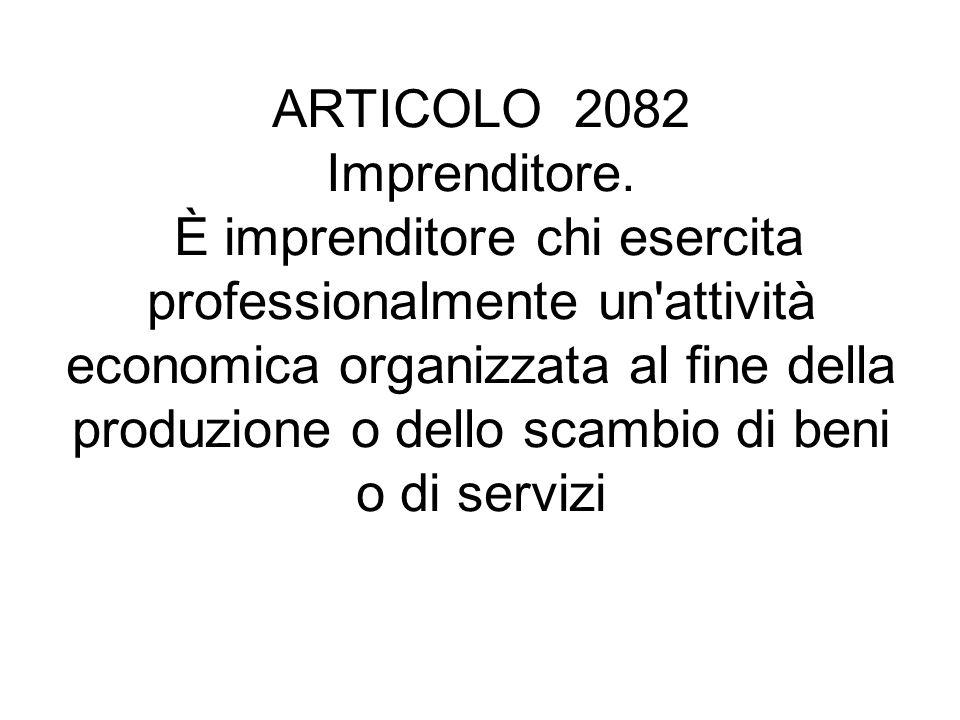 ARTICOLO 2082 Imprenditore.
