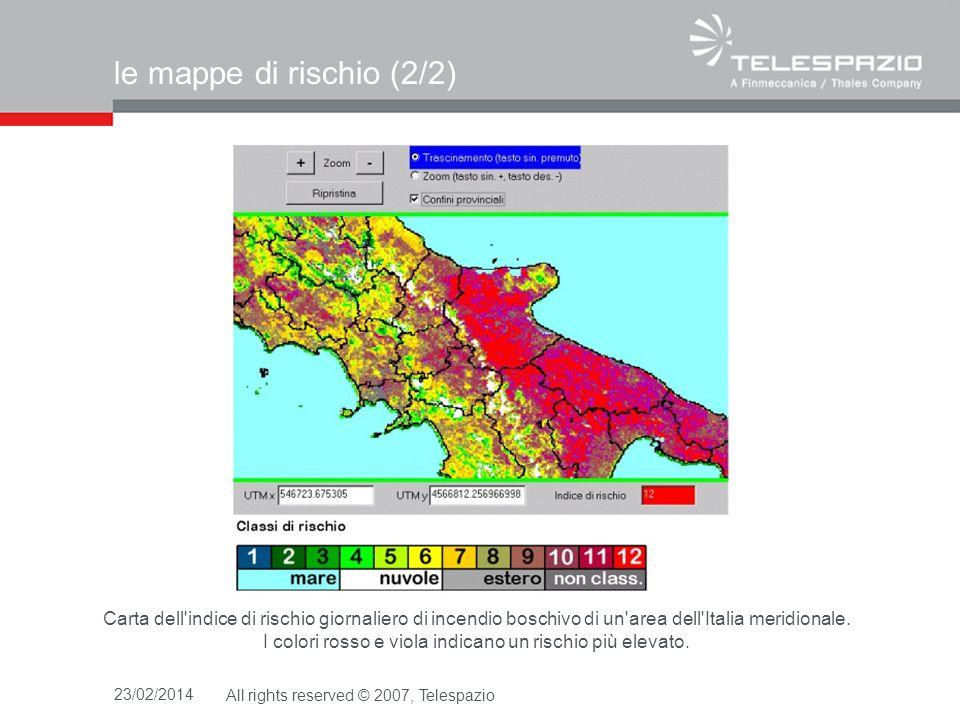 23/02/2014All rights reserved © 2007, Telespazio limplementazione del modello Radianze Geostaz.