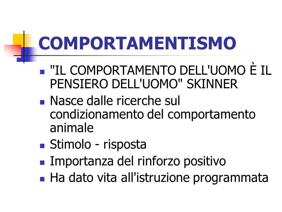 COMPORTAMENTISMO