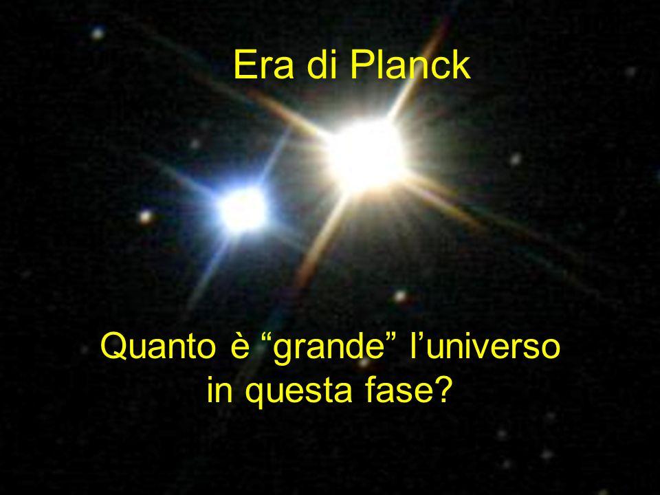 Non possiamo capire luniverso! Forti indizi portano a credere che le interazioni fondamentali della natura siano unificate! Era di Planck Quanto è gra