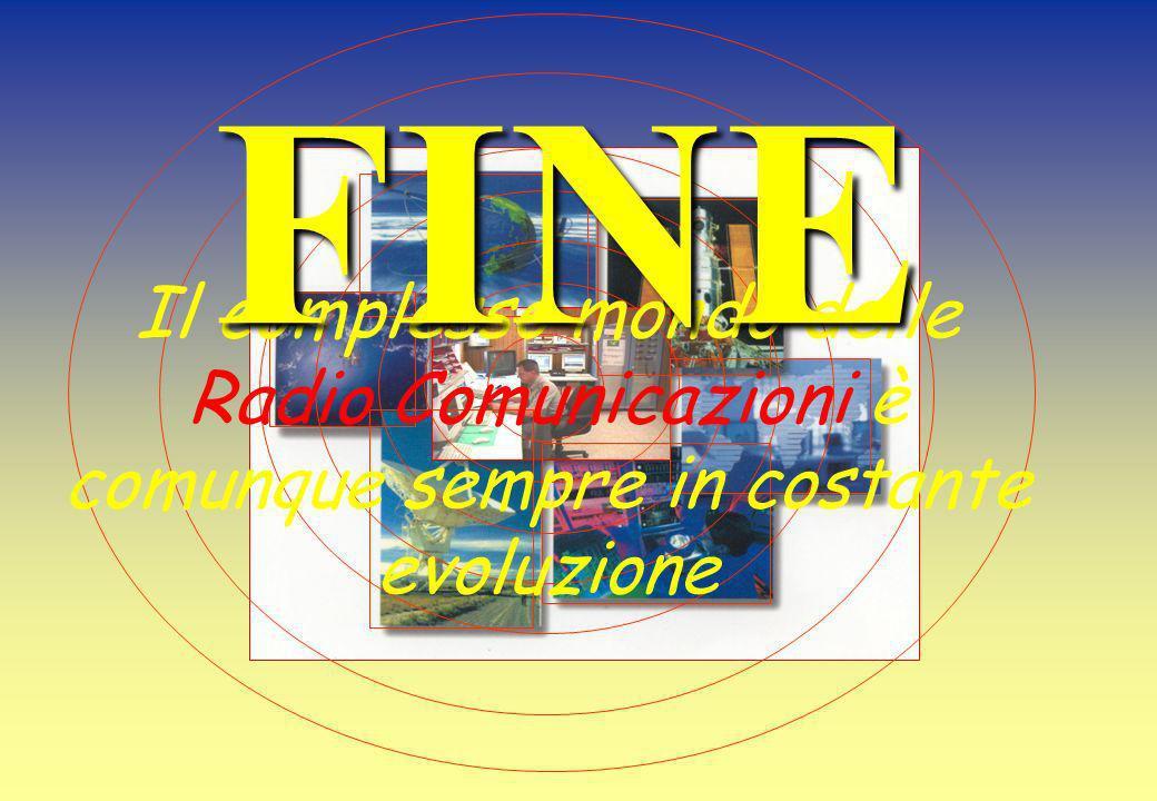 Il complesso mondo delle Radio Comunicazioni è comunque sempre in costante evoluzione FINE