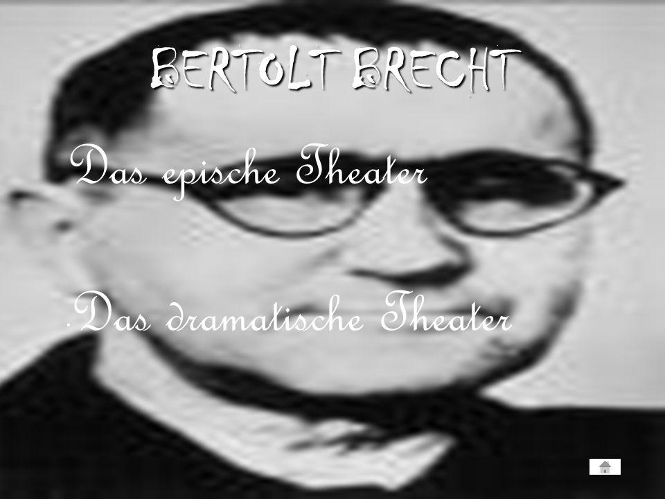Das epische Theater Das dramatische Theater BERTOLT BRECHT