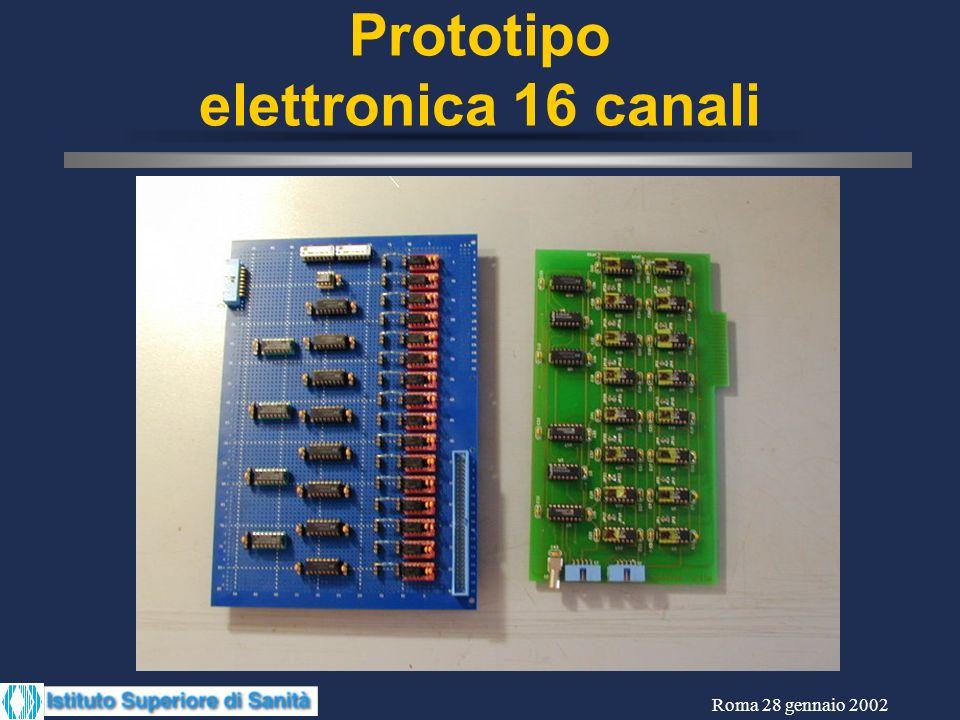Roma 28 gennaio 2002 Prototipo elettronica 16 canali