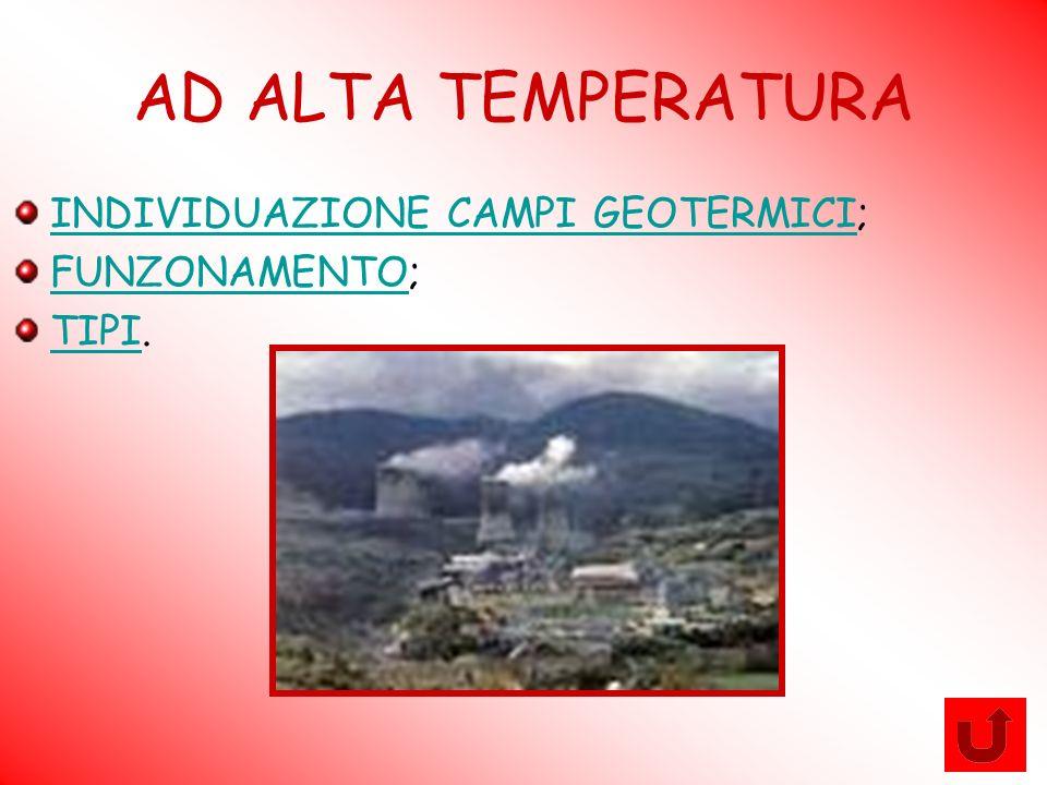 AD ALTA TEMPERATURA INDIVIDUAZIONE CAMPI GEOTERMICIINDIVIDUAZIONE CAMPI GEOTERMICI; FUNZONAMENTOFUNZONAMENTO; TIPITIPI.