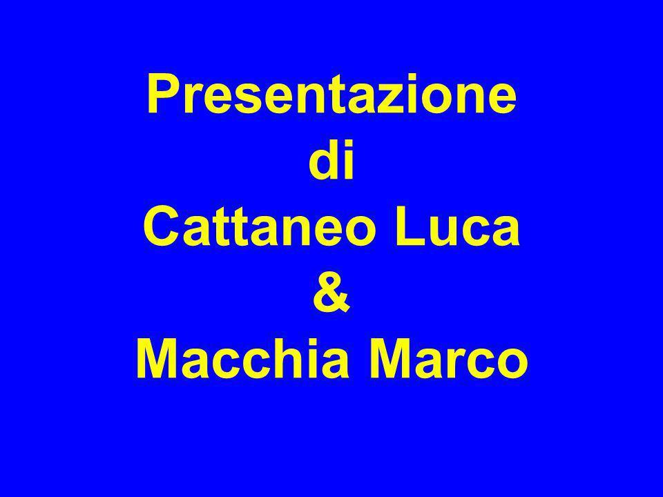 Presentazione di Cattaneo Luca & Macchia Marco