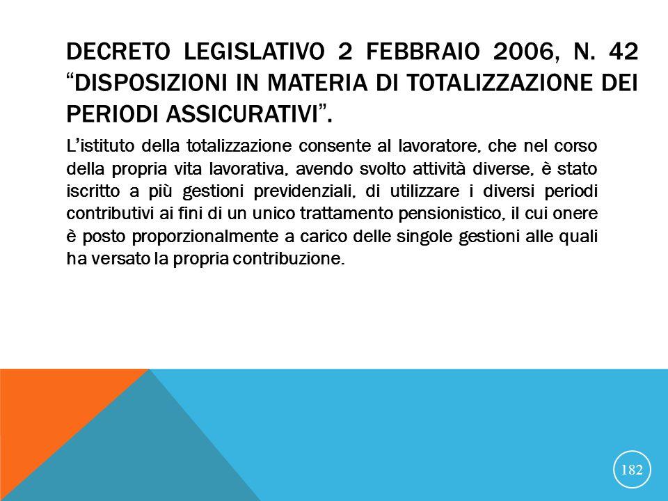 DECRETO LEGISLATIVO 2 FEBBRAIO 2006, N.