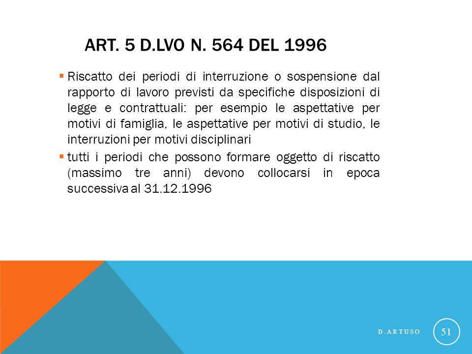 ART.5 D.LVO N.