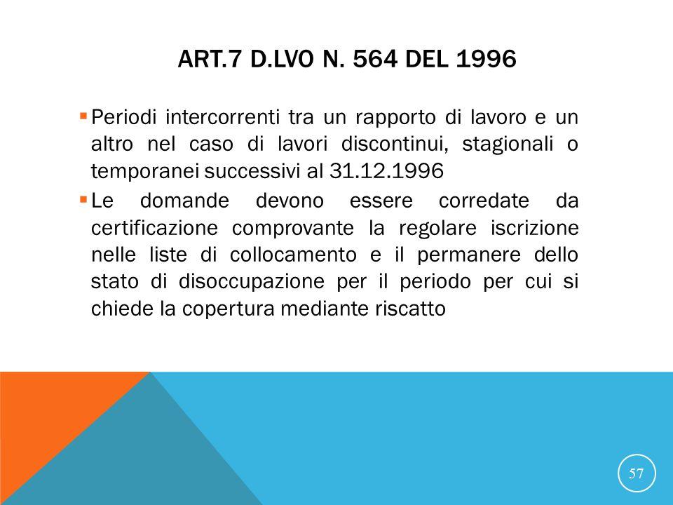 ART.7 D.LVO N.