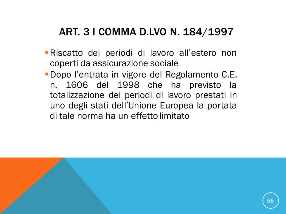 ART.3 I COMMA D.LVO N.