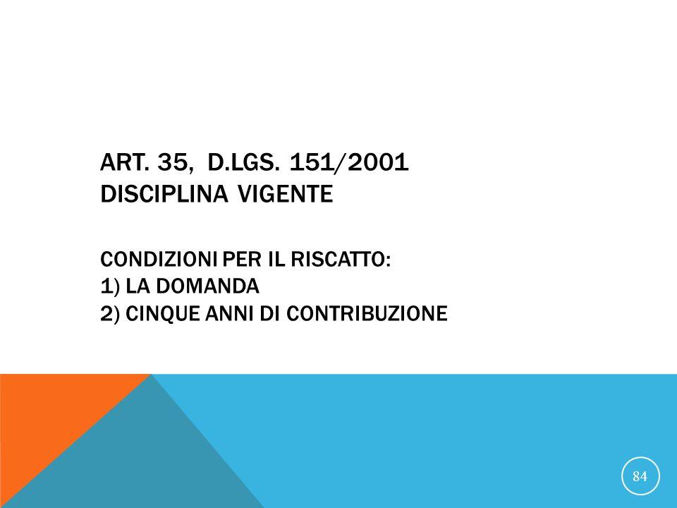 ART.35, D.LGS.