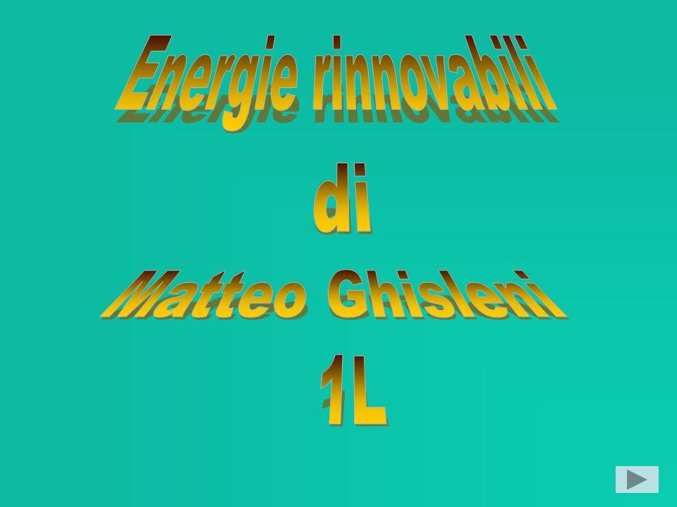 Energie rinnovabili Energia geotermica Energia idroelettrica Energia solare Energia eolica Energia da biomasse