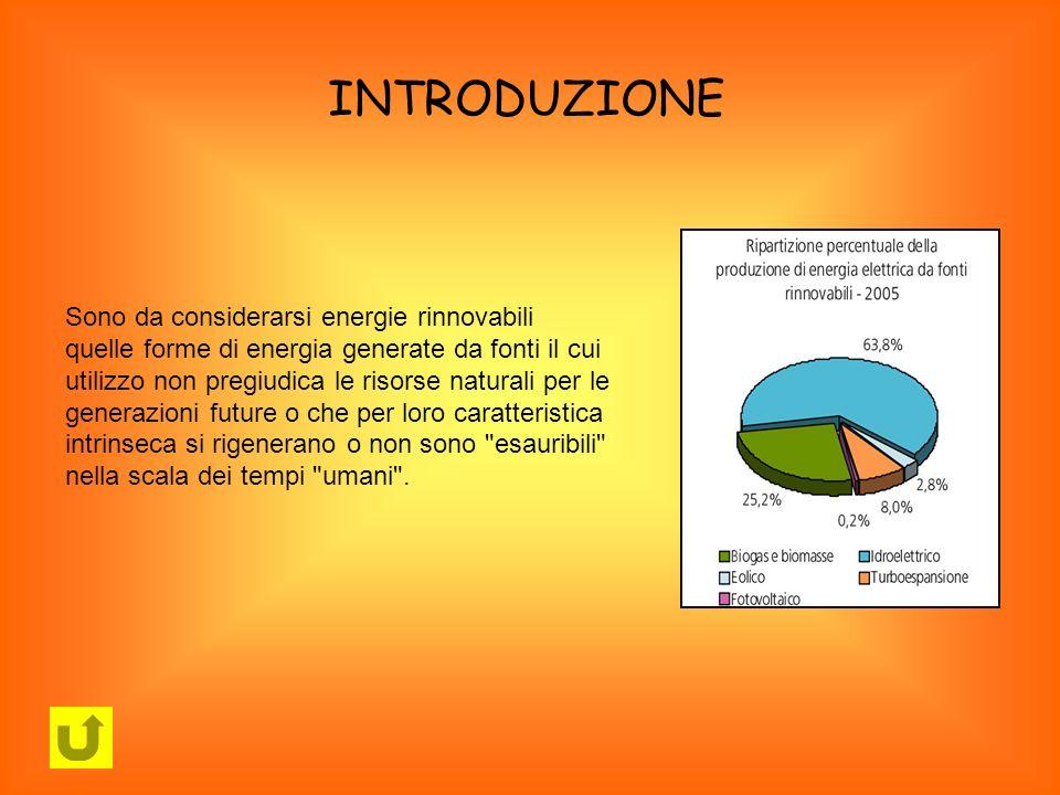 Sono da considerarsi energie rinnovabili quelle forme di energia generate da fonti il cui utilizzo non pregiudica le risorse naturali per le generazio