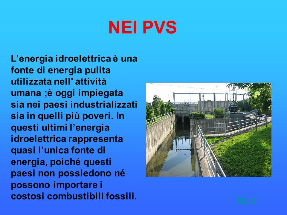Lenergia idroelettrica è una fonte di energia pulita utilizzata nell' attività umana ;è oggi impiegata sia nei paesi industrializzati sia in quelli pi
