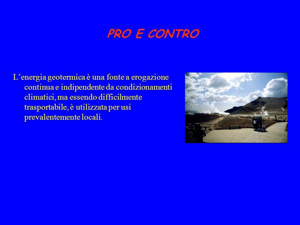 IN ITALIA La produzione geotermica italiana ha una lunga tradizione: la prima vera centrale geotermoelettrica, Larderello 1, entrò in servizio nel 1913.