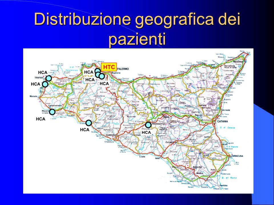 Distribuzione geografica dei pazienti