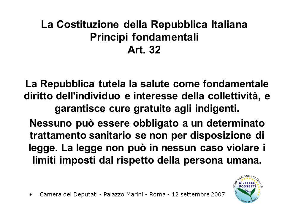 La Costituzione della Repubblica Italiana Principi fondamentali Art.