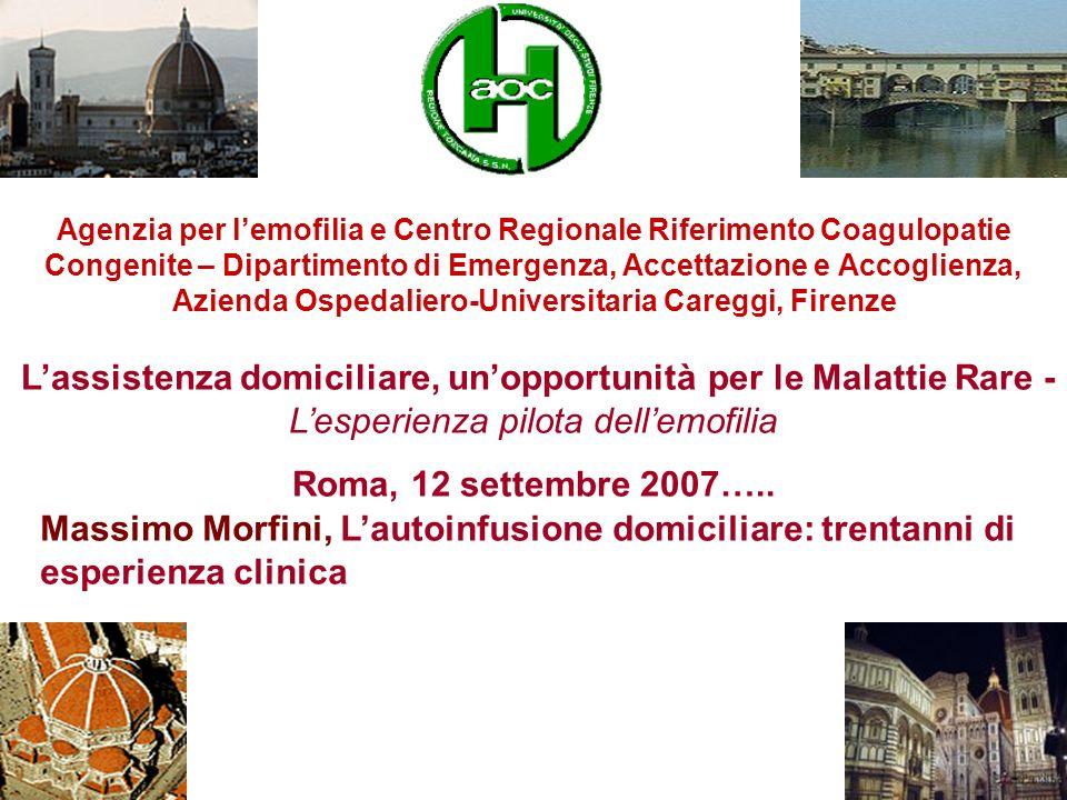 Agenzia per lemofilia e Centro Regionale Riferimento Coagulopatie Congenite – Dipartimento di Emergenza, Accettazione e Accoglienza, Azienda Ospedalie