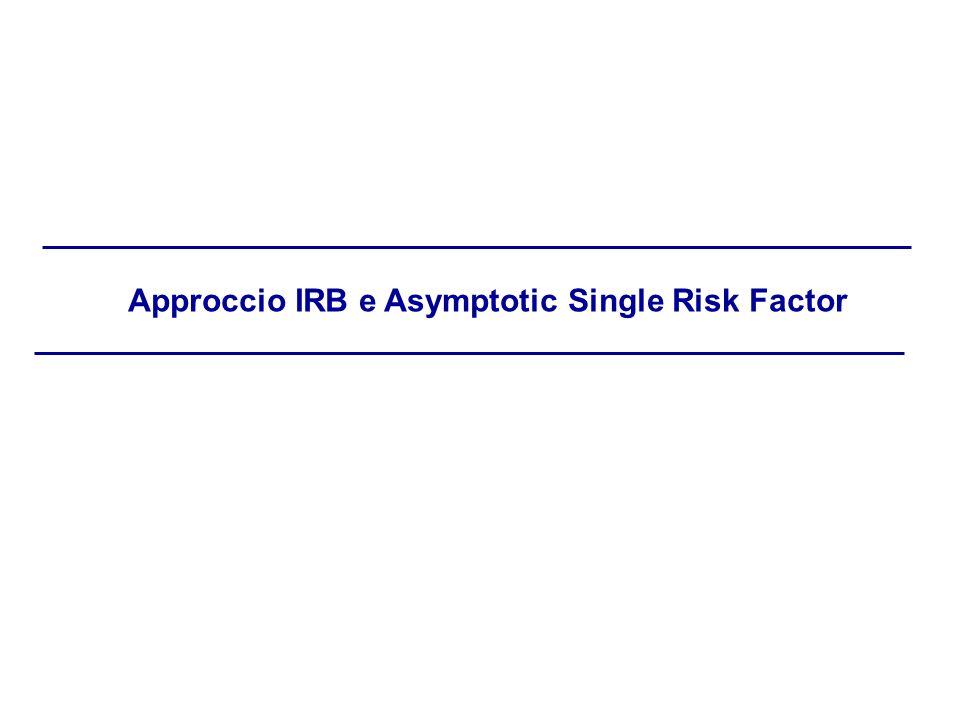 Approccio IRB e Asymptotic Single Risk Factor