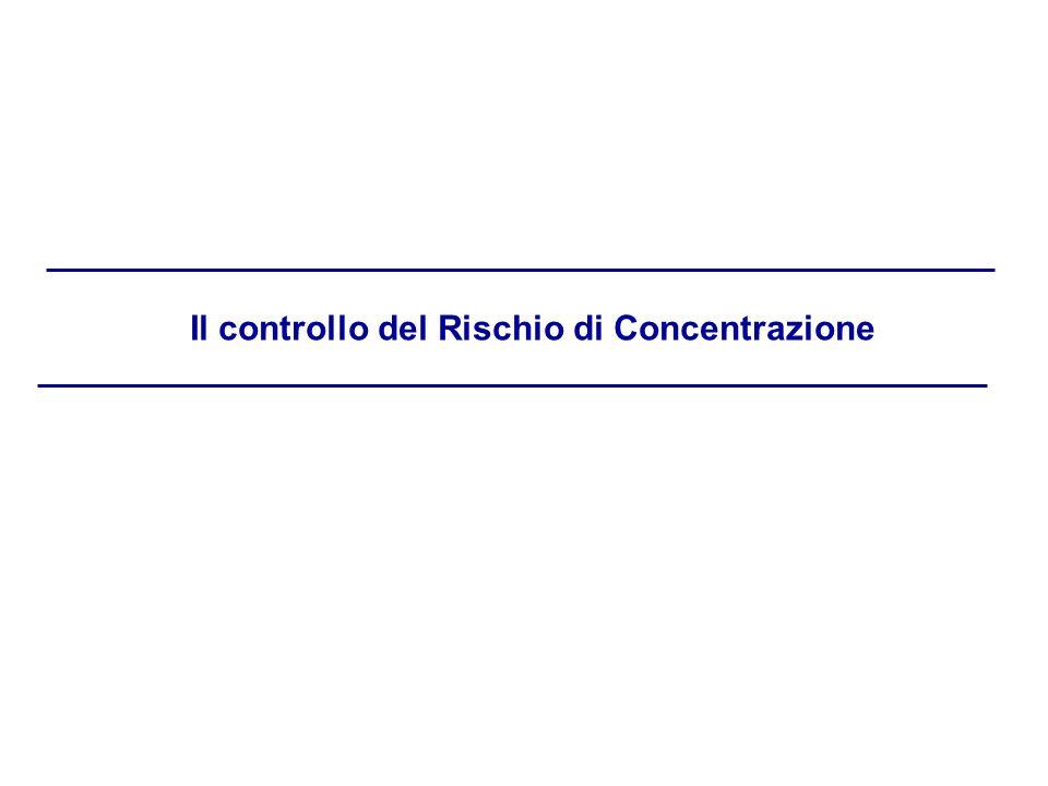 Il controllo del Rischio di Concentrazione