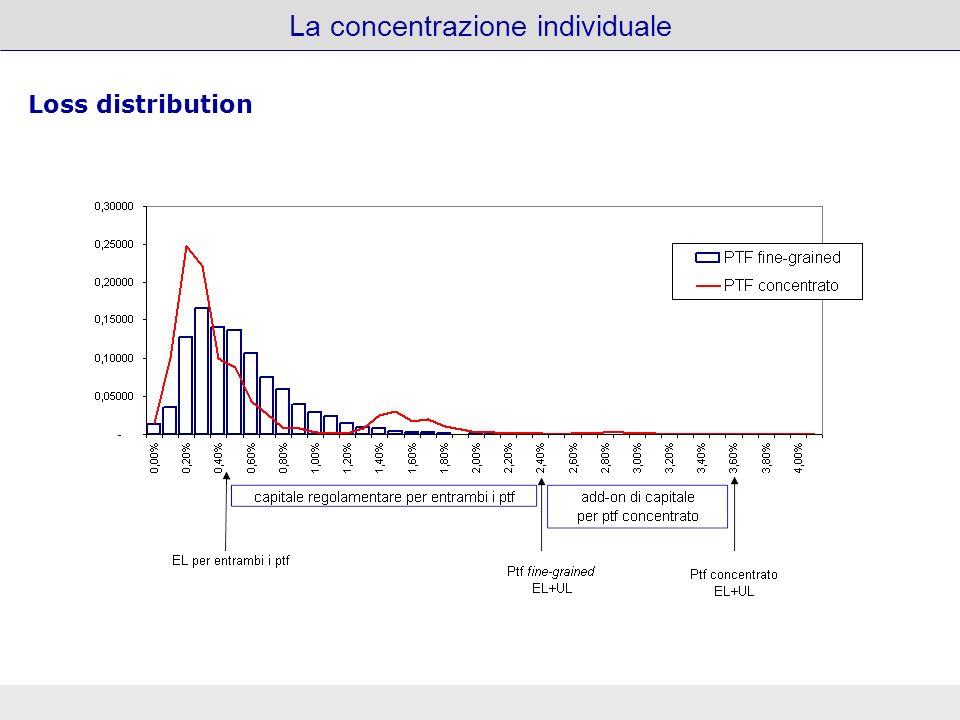 La concentrazione individuale Grafici Loss distribution