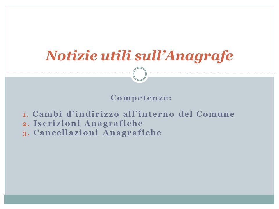 Che cos è l anagrafe La parola anagrafe (anagraphé) è di origine greca e significa registro.