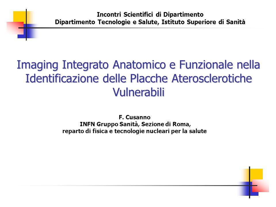 Imaging Integrato Anatomico e Funzionale nella Identificazione delle Placche Aterosclerotiche Vulnerabili F. Cusanno INFN Gruppo Sanità, Sezione di Ro