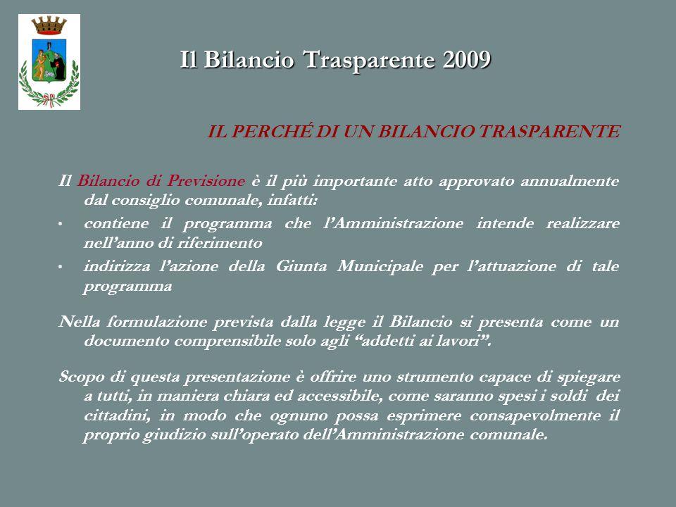 Il Bilancio Trasparente 2009 Attività volte a favorire maggiore presenza della polizia municipale per contrastare fenomeni di micro delinquenza e per lordine cittadino.