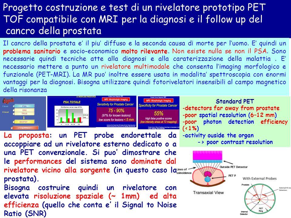 LSNR della PET puo essere migliorato in modo decisivo mediante luso della tecnica del TOF che, tra laltro consente di isolare la prostata dal fondo rileante della vescica.