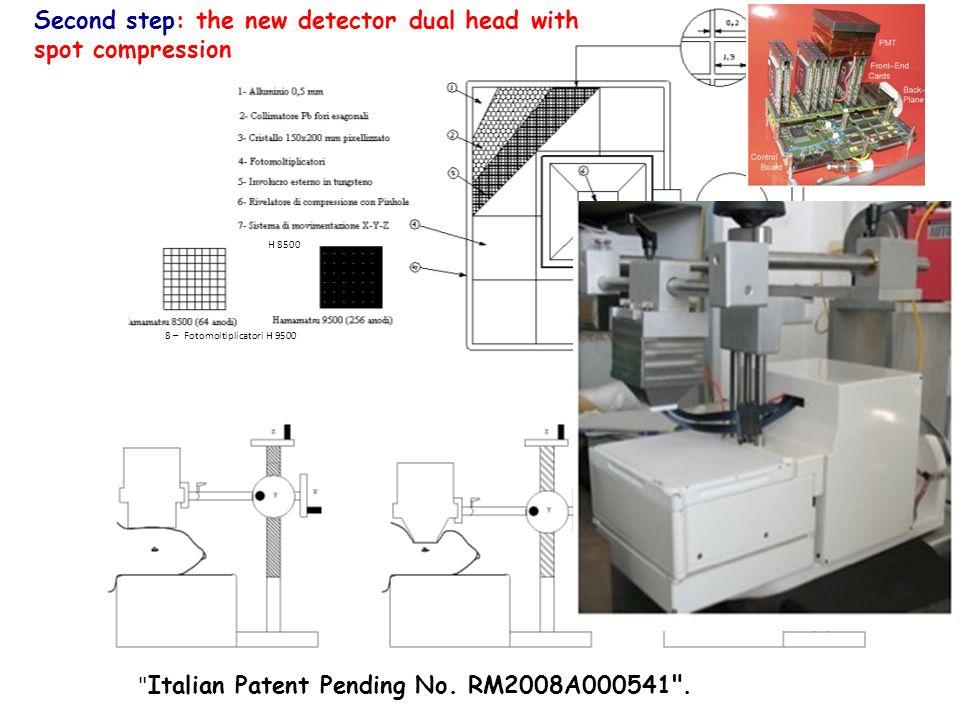 a b Confronto tra il nostro rivelatore duale, con tecnica spot compression ed un rivelatore dedicato.