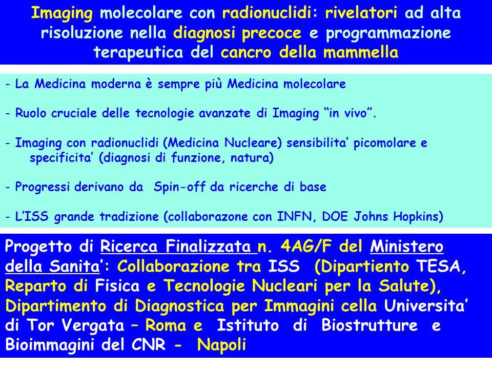 Imaging molecolare con radionuclidi: rivelatori ad alta risoluzione nella diagnosi precoce e programmazione terapeutica del cancro della mammella Prog