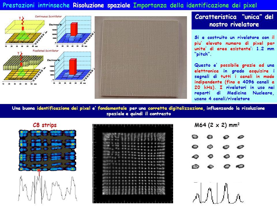 Prestazioni intrinseche Risoluzione spaziale Importanza della identificazione dei pixel Una buona identificazione dei pixel e fondamentale per una cor