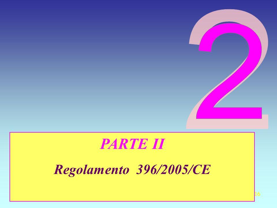 16 PARTE II Regolamento 396/2005/CE