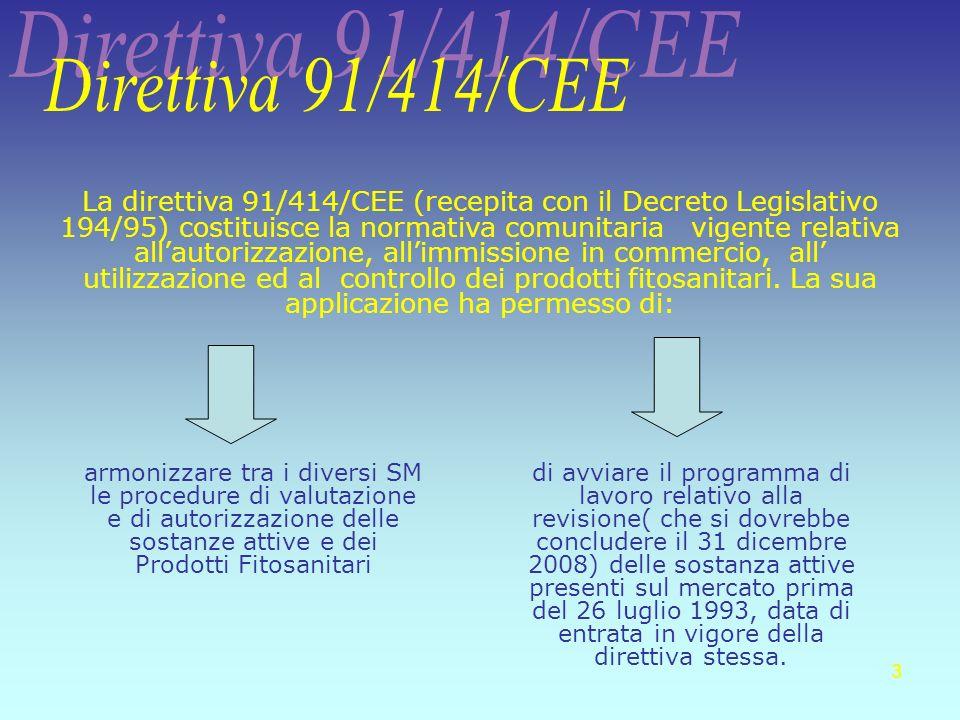 3 di avviare il programma di lavoro relativo alla revisione( che si dovrebbe concludere il 31 dicembre 2008) delle sostanza attive presenti sul mercat