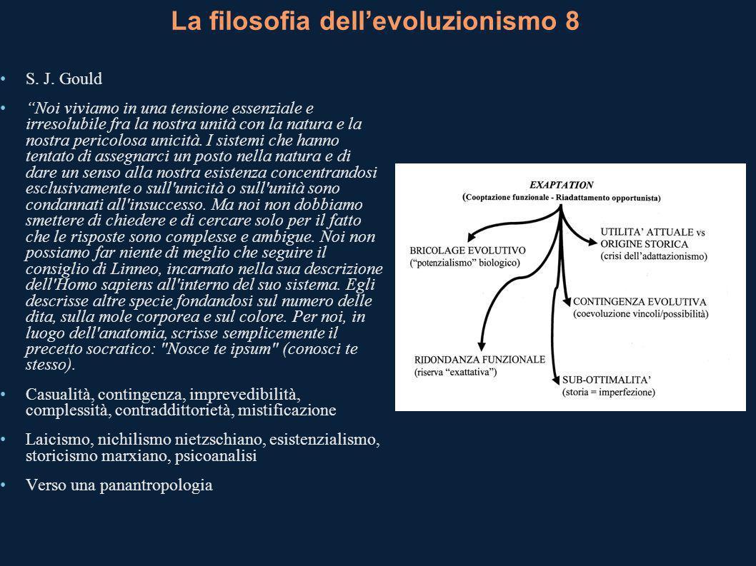 La filosofia dellevoluzionismo 8 S.J.