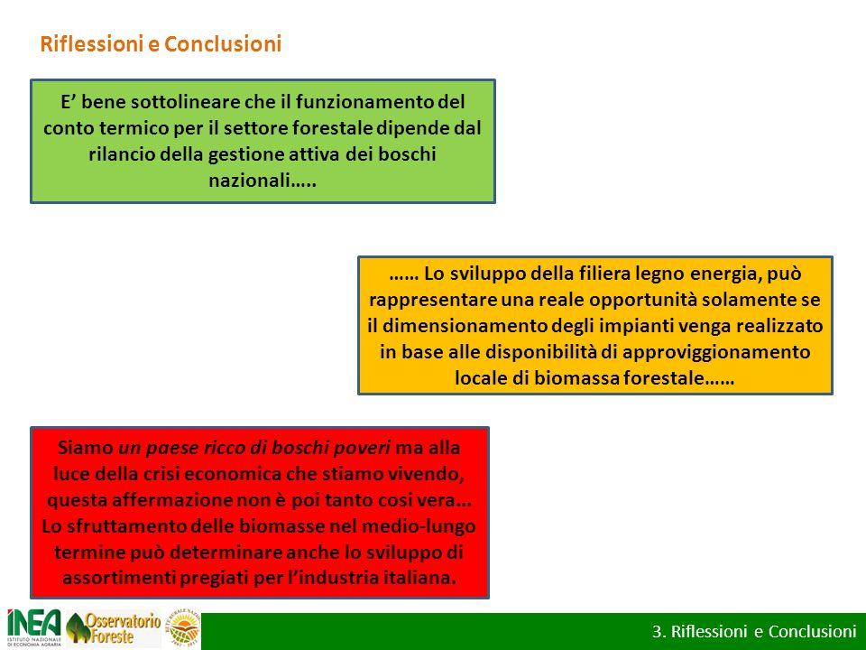 Riflessioni e Conclusioni …… Lo sviluppo della filiera legno energia, può rappresentare una reale opportunità solamente se il dimensionamento degli im