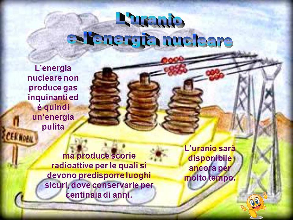 ma produce scorie radioattive per le quali si devono predisporre luoghi sicuri, dove conservarle per centinaia di anni. Lenergia nucleare non produce