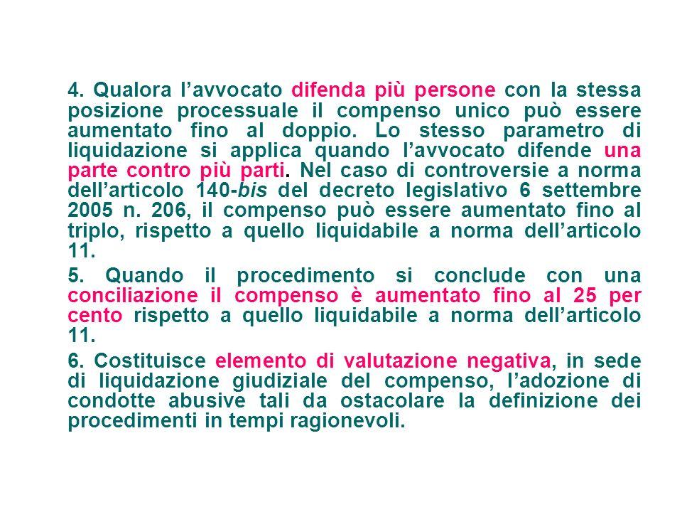 Art.5 (Determinazione del valore della controversia) 1.