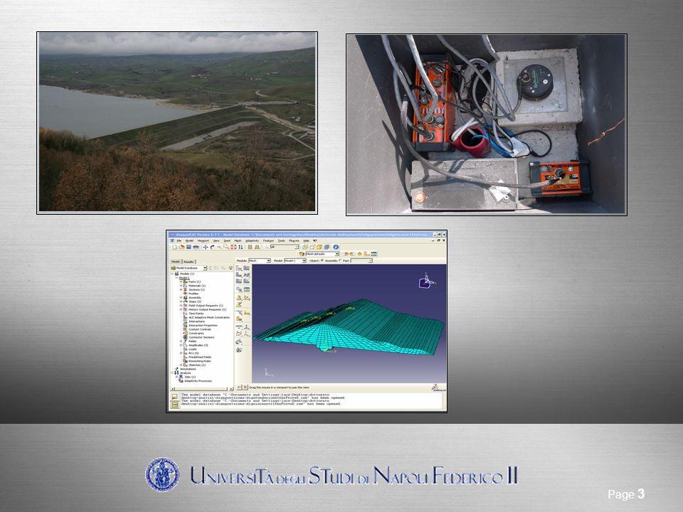 Sito di riferimento Page 3 Sistema di allarme sismico: Strumentazione installata Sistema di allarme sismico: Modellazione del problema al finito