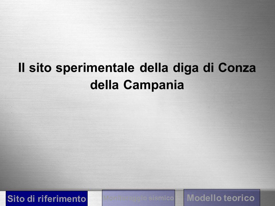 Il sito sperimentale della diga di Conza della Campania Sito di riferimento Monitoraggio sismico Modello teorico