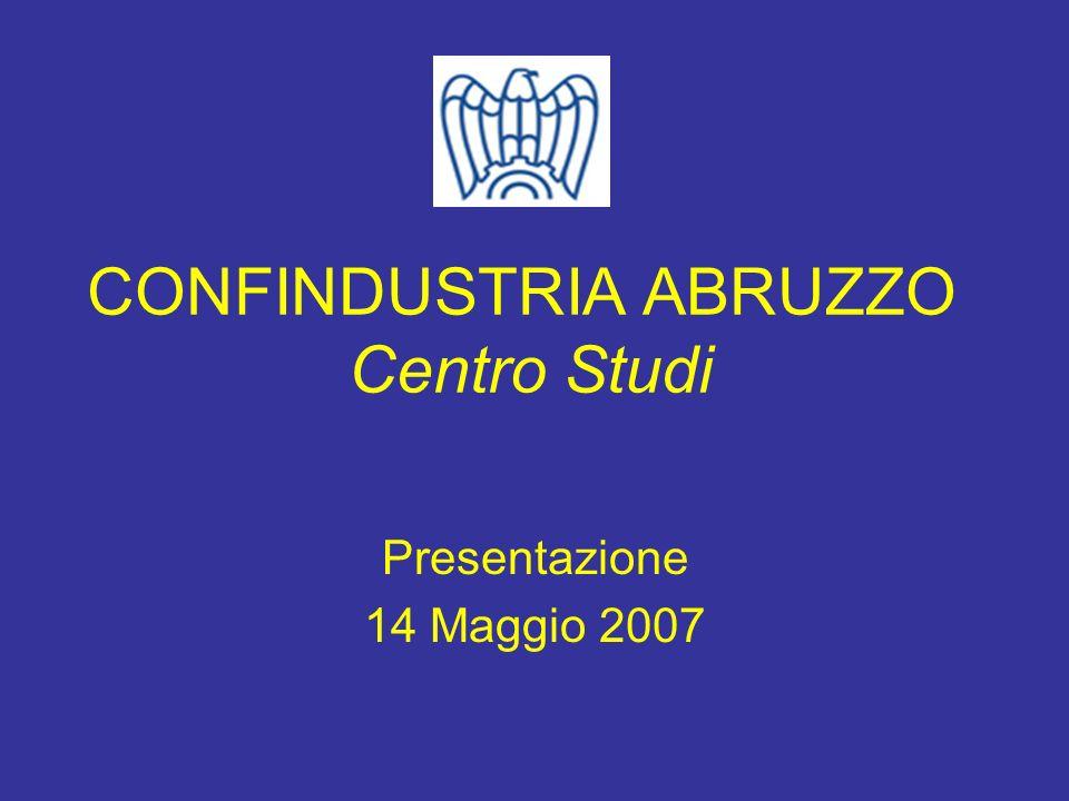 CONFINDUSTRIA ABRUZZO Centro Studi Presentazione 14 Maggio 2007