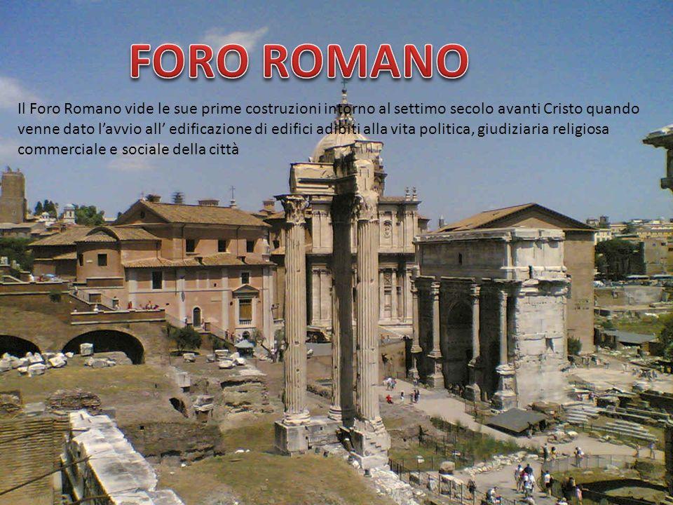 Il Foro Romano vide le sue prime costruzioni intorno al settimo secolo avanti Cristo quando venne dato lavvio all edificazione di edifici adibiti alla