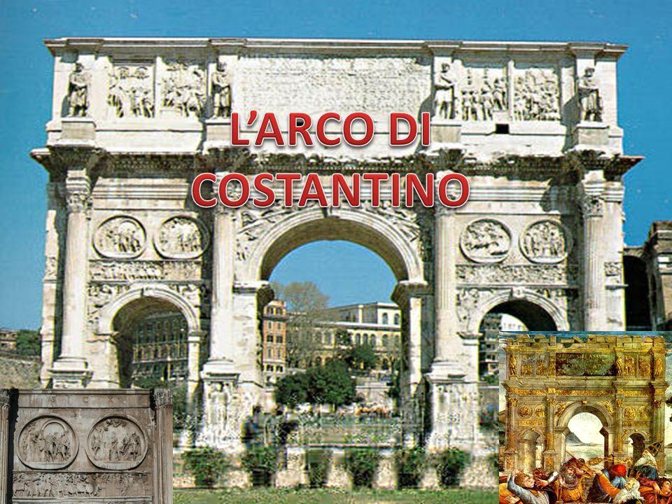 L arco di Costantino è un arco trionfale a tre fornici (con un passaggio centrale affiancato da due passaggi laterali più piccoli), situato a Roma, a breve distanza dal Colosseo.